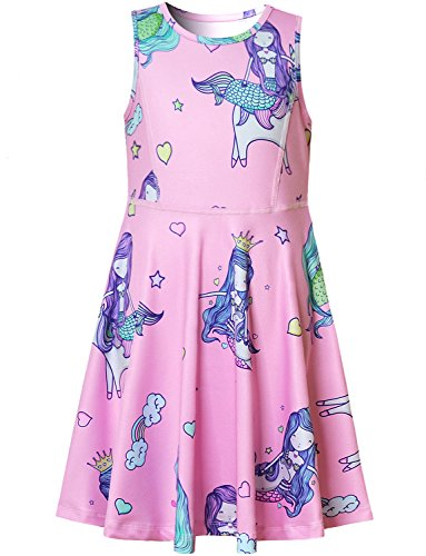 bbd5a2232ca Jual Rainbow Unicorn Dress for Girls Sleeveless Party Birthday ...
