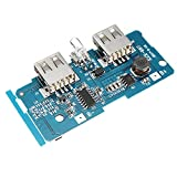 HITSAN 3.7V To 5V 1A 2A Boost Module DIY Power Bank Mainboard Circuit Board Built In 18650 Lithium Battery Protection IC Double USB Output Over-current Over-voltage Under Voltage Protection One Piece