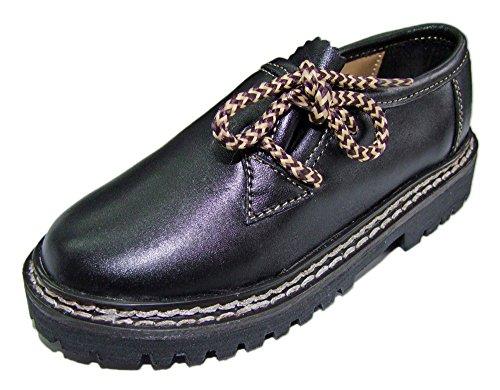 Kinder Trachten Haferlschuhe Nappaleder Schwarz - Schöne Schuhe für Jungen Halbschuhe zur Trachten Lederhose hqQhukbuI