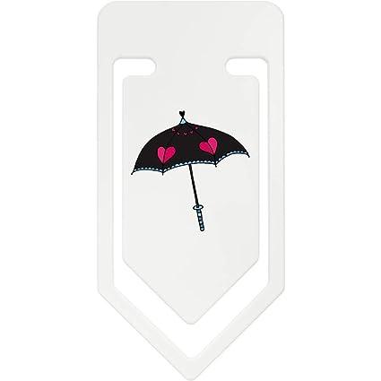Azeeda 141mm Paraguas del Corazón Clip de Papel Plástico Gigante (CC00038319)