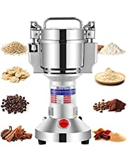 Moongiantgo Electric Grain Grinder Mill Herb Spice Grinder 50-300 Mesh Powder Machine Stainless Steel Pulverizer Dried Materials Grinding Machine for Cereal Grains Spices Herbs
