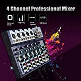 XINLIFAN Mixer Console 4 Channel Professional Stage Live Studio Mixing Machine with USB Interface Very Good