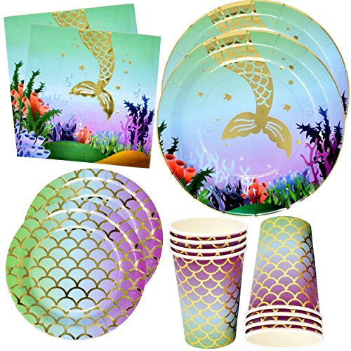 Mermaid Party Supplies Set 24 9