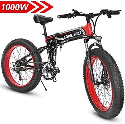 1000W Bicicleta eléctrica para Hombre Mountain Mountain Ebike 21 ...