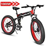 51Z4iVPBAPL. SS150 Shengmilo MX01 Freno a Disco Idraulico da Mountain Bike Elettrico da 1000W con Batteria da 21Speeds 13AH (Nero (1…
