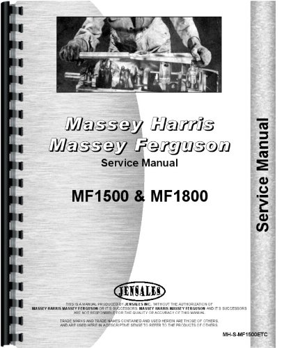 Massey Ferguson 1500 1800 Tractor Service Manual (MH-S-MF1500ETC)