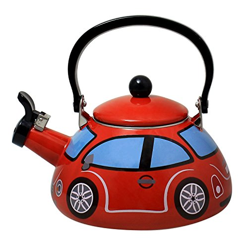 Decorative Enameled Steel Whistling Kettle