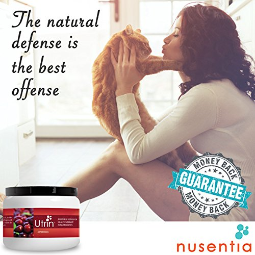 Image of NUSENTIA Natural Urinary Health for Dogs & Cats, Amazing Dual-Action Cranberry & D-Mannose, Build Bladder Strength and Avoid Recurring UTI, 60 servings