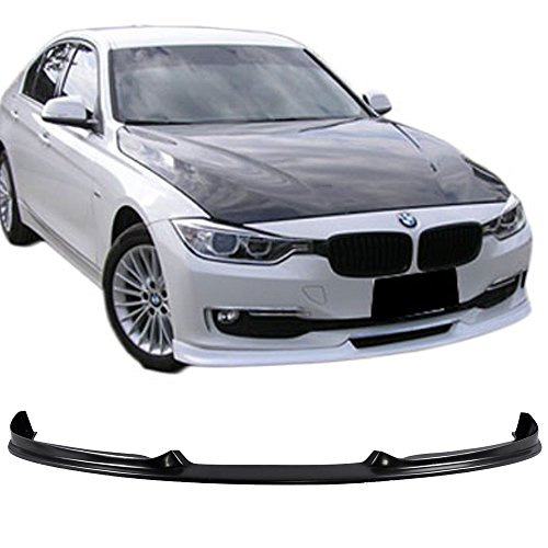 - Front Bumper Lip Fits 2012-2015 BMW 3-SERIES F30 | H-Style PU Black Front Lip Spoiler Splitter by IKON MOTORSPORTS | 2013 2014