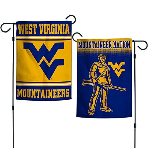 Elite Fan Shop WVU West Virginia Mountaineers Garden Flag 12.5
