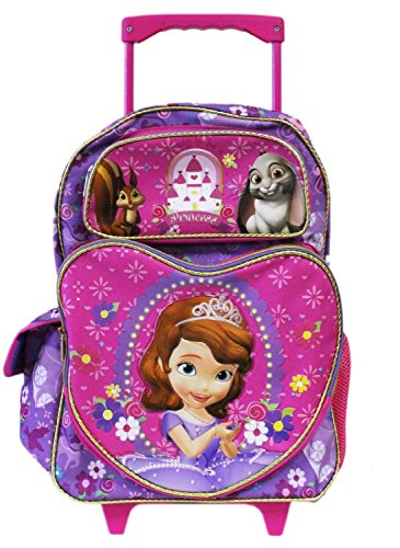 Purple Sofia First Rolling Backpack