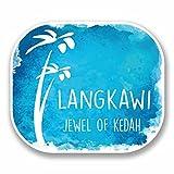 2 x 30cm/300mm Langkawi Malaysia Vinyl Sticker Decal Laptop Car Travel Luggage Label Tag #9682
