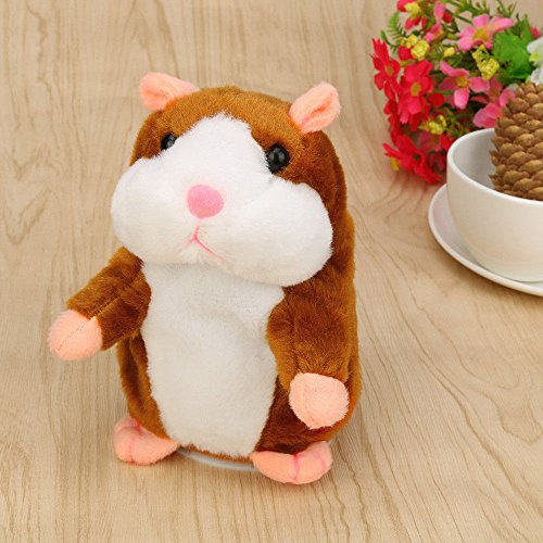 Adorable Mimicry Pet Speak Talking Record Hamster Mouse Plush Kids Baby Toys