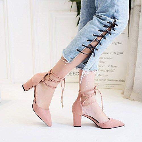 Ruiren Cour Femmes Bout rose Pointu Party Haute 7 Chaussures Heel Height Cm Prom De Escarpins Mariage CrrqXwnd