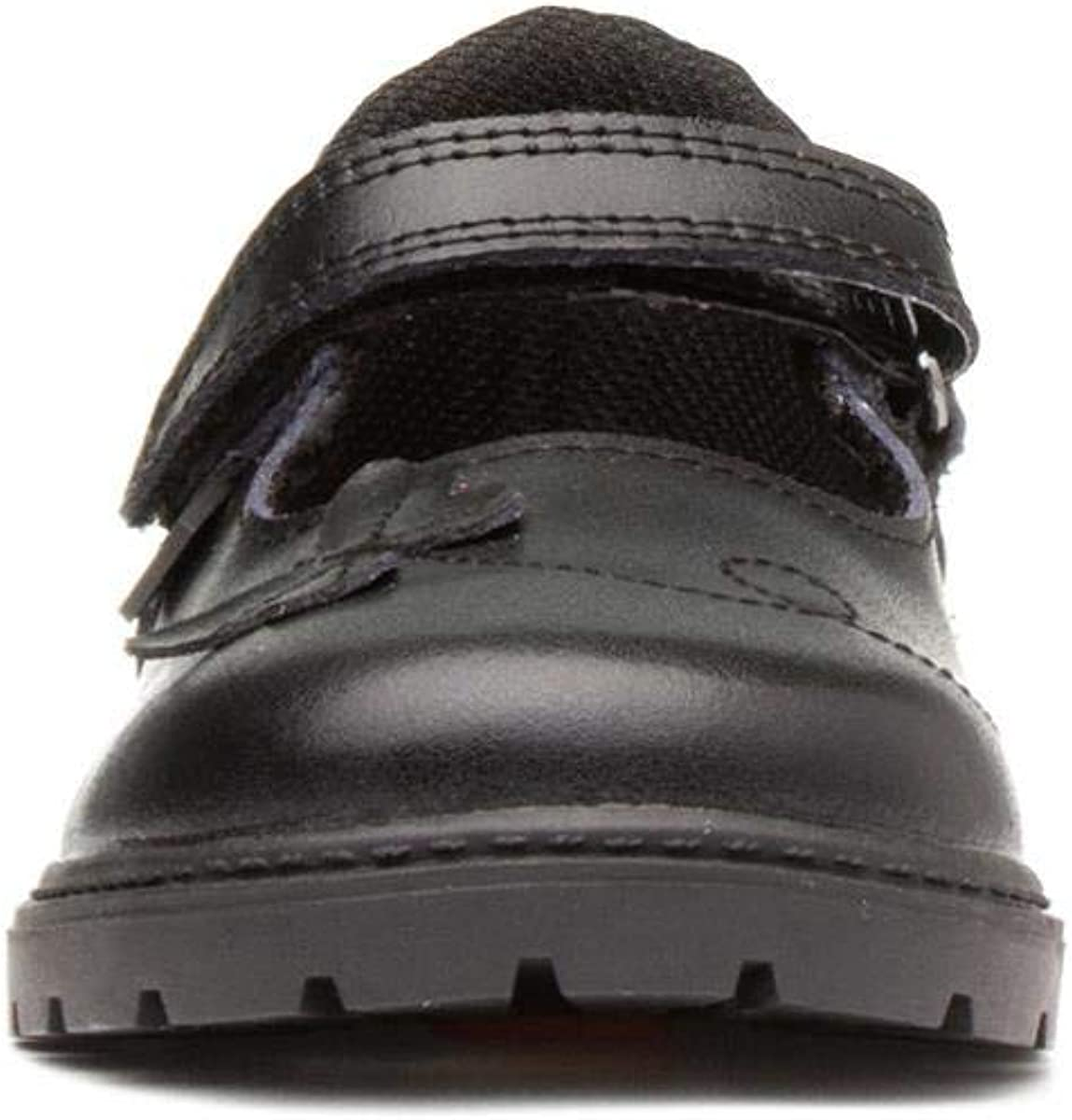 Chipmunks Girls Black Easy Fasten Shoe