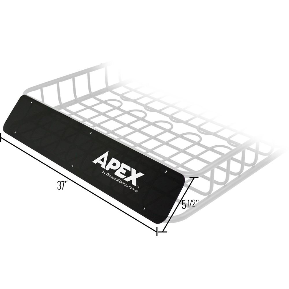 Rage Powersports RB-DLX-V2-FR Roof Cargo Basket (Wind Fairing for the Black Widow)