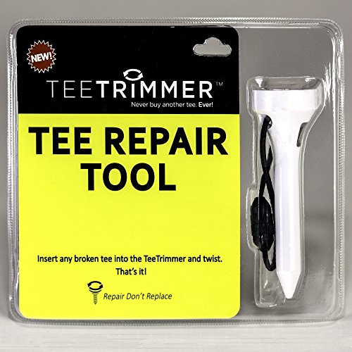 Tee Trimmer Tee Repair Tool, Best for Sharpening Broken Wood & Plastic Golf Tees; Add to Tee Bag or Attach to Golf Bag – Great Golfing Gift
