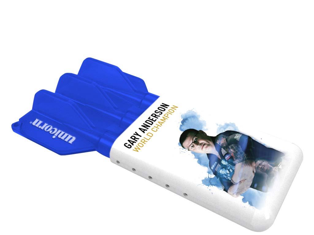 Unicorn Darts Gary Anderson - Funda Deslizante, Color Azul y Blanco 46603