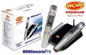 WOW Magic Mic - Dual Wireless Karaoke Pro320 - 1880 UK Songs