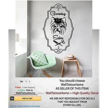 Shop Stock Quote Simple Amazon Wall Decals Quote Grooming Salon Decal Dog Comb Scissors