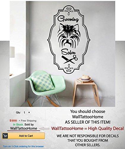 Amazon.com: Dog Grooming Salon Wall Decals Sticker Art VinylComb ...