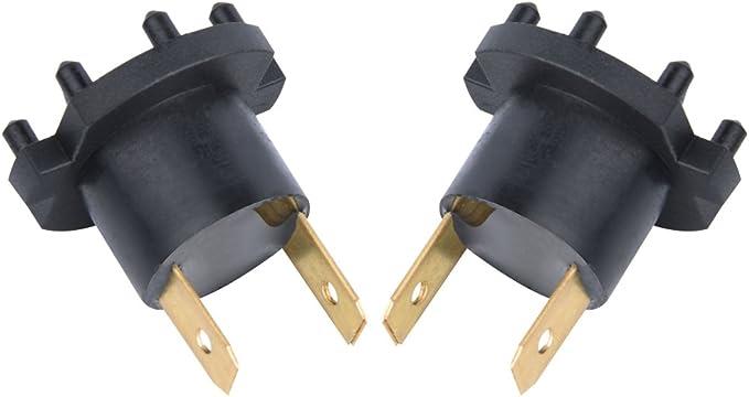 Qiilu A Pair of Headlight Socket,Bulb Holder for Auto 3 5 323 B28V510A3 12V