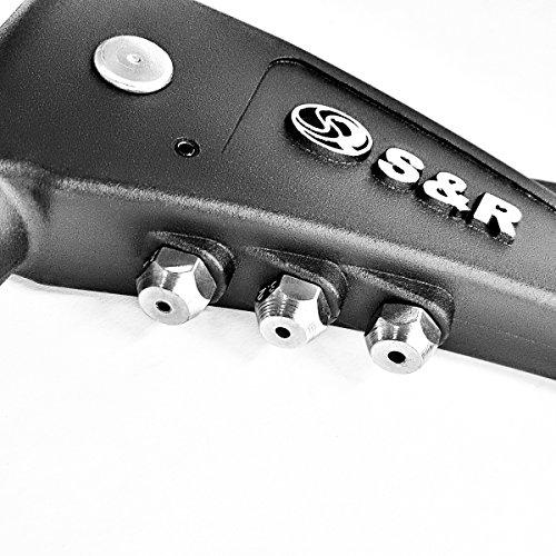 S&R Riveteuse une main 2,4 – 5,0mm pour rivets aveugles acier, aluminium et inox en acier durable et robuste.