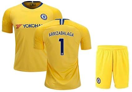 pretty nice fd36c 02b88 Amazon.com : ZZXYSY Kepa Arrizabalaga #1 Chelsea Men's Away ...