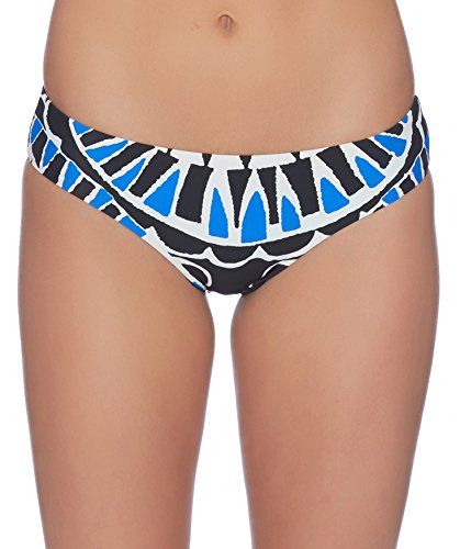 Ella Moss Fashion - Ella Moss Women's Retro Swimsuit Bikini Bottom, Moonlight Tribe Black, Medium