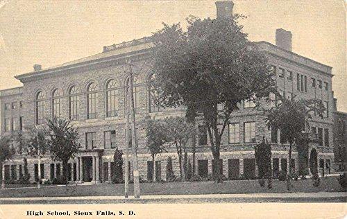 Sioux Falls South Dakota High School Street View Antique Postcard - Falls Sioux Stores