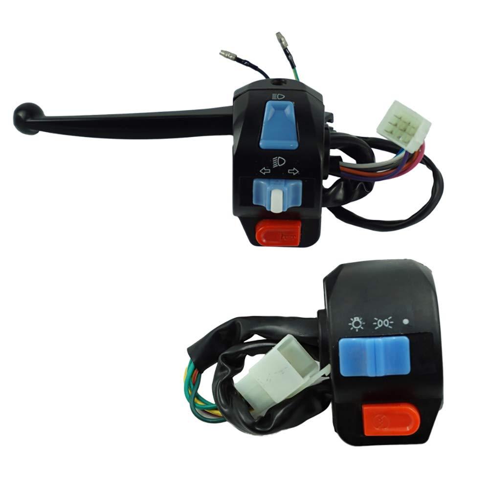 1 paire 12V moto /étanche gauche et droite guidon commutateur de commande klaxon clignotant /étoile /électrique pour GY6 50cc 125cc 150cc Cyclist store color/é : None