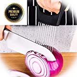 Culinerro – The Best Onion Holder for Slicing All-In-One | Potato holder | Onion Cutter | Onion Chopper Stainless Steel