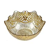 Red Pomegranate Geneve Small Bowl Gold 8.5-Inch