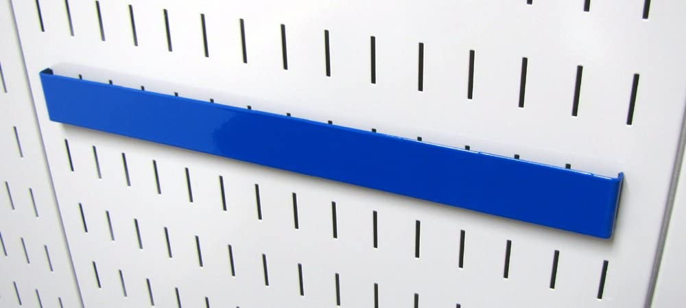 Blue Wall Control Pegboard 14in Accessory Hanger Tool Holder Bracket Pegboard Accessory for Wall Control Pegboard and Slotted Tool Board