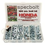 120pc Specbolt Honda TRX250R Fourtrax & ATC250R Bolt Kit for Maintenance & Restoration OEM Spec Fasteners fits quad and three wheelers TRX ATC 250R