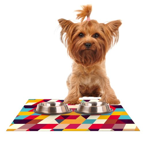 Kess InHouse Danny Ivan Kyoto  Feeding Mat for Pet Bowl, 18 by 13-Inch