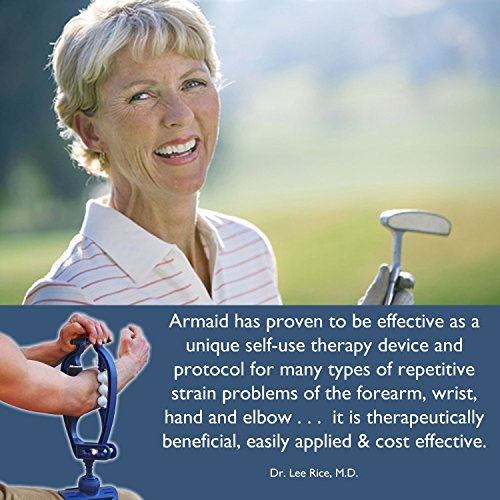 Armaid Basic Foam Massage Tool | Self Myofascial Release ITB Roller | Tennis Elbow Treatment | RSI Therapy | Therapeutic Trigger Point Hand Muscle Foam Roller | Forearm Exerciser | Arm Aid Massager
