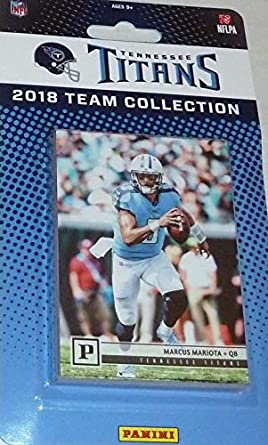 watch 45998 bb3a7 Tennessee Titans 2018 Panini Factory Sealed NFL Football Complete Mint 15  Card Team Set with Marcus Mariota and 5 Rookie Cards including Harold  Landry ...