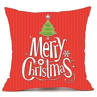 Throw Pillow Cover, DaySeventh Merry Christmas Pillow Cases Super Cashmere Sofa Cushion Cover Home Decor 18x18 Inch 45x45 cm