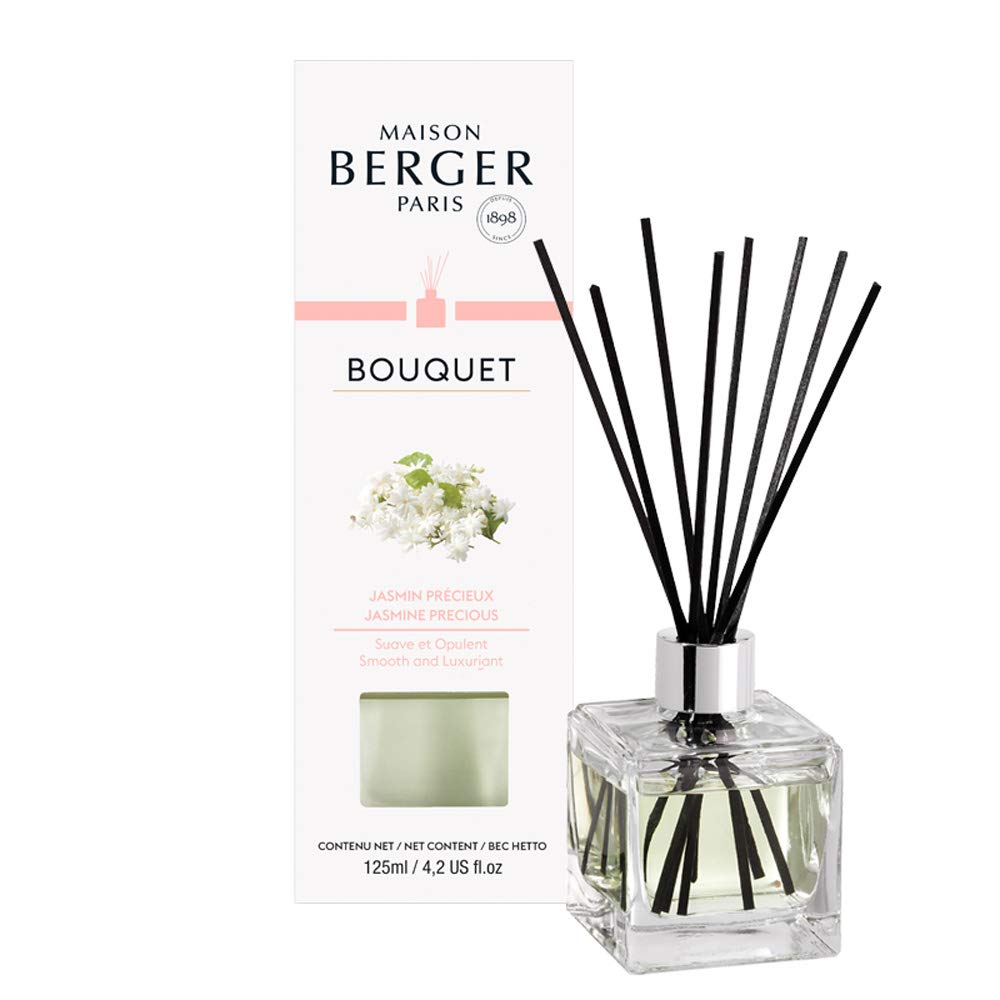 MAISON BERGER Precious Jasmine Cube Reed Diffuser, Clear by MAISON BERGER