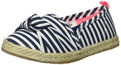 Girl's Beachy Espadrille Flat Loafer, Navy 9 M US Toddler ()