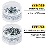 PINGKAN D Ring Picture Hangers with Screws,100