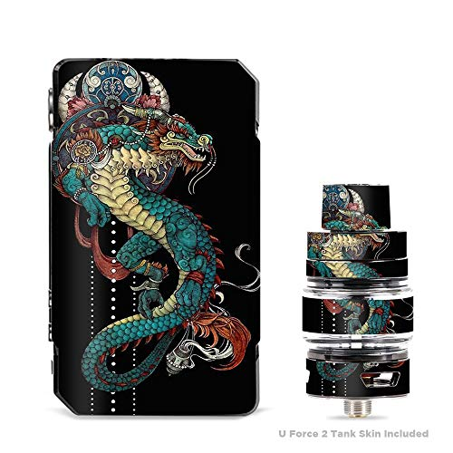 IT'S A SKIN Decal Vinyl Wrap for VooPoo Drag 2 V2 & UForce T2 Tank Vape Sticker Sleeve Cover/Dragon Japanese Style Tattoo
