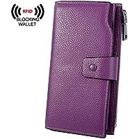 Yaluxe Women's RFID Blocking Luxury Wax Genuine Leather Clutch