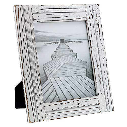 - Barnyard Designs Rustic Farmhouse Distressed Picture Frame - White Wood Photo Frame 8
