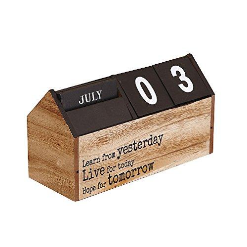 New Hangnuo Handmade Wooden Calendar Diy Desktop Crafts Perpetual