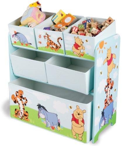 Delta TB84686WP Multi Toy Organizer - Holz mit Canvas  - Winnie Pooh