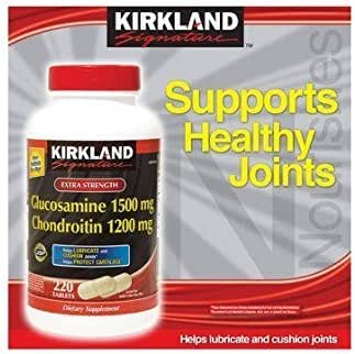 Kirkland Signature cOMZN, Glucosamine HCI 1500mg Chondroitin Sulfate 1200mg 220 Tablets (Pack of 3)