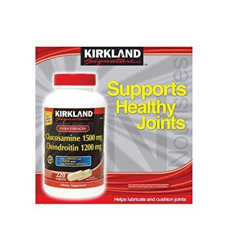 Kirkland Signature oMViy, Glucosamine HCI 1500mg Chondroitin Sulfate 1200mg 220 Tablets (Pack of 4) by Kirkland Signature