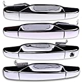 chevy door handle chrome - ECCPP Chrome Door Handles Exterior Outside Outer Front Rear Driver Passenger Side Replacement for 2007-2013 Chevy GMC Cadillac(Pack of 4)